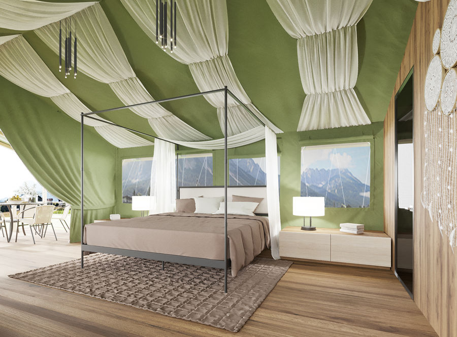 Tente royalty-free 3d model - Preview no. 1