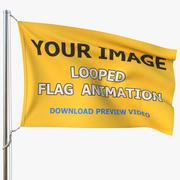 Animated Flag 01 3d model