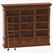 古典図書棚 3d model