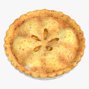 Яблочный пирог 01 3d model