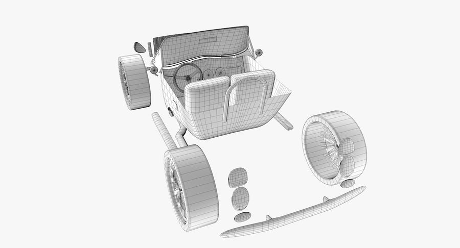 Sports Car royalty-free 3d model - Preview no. 19