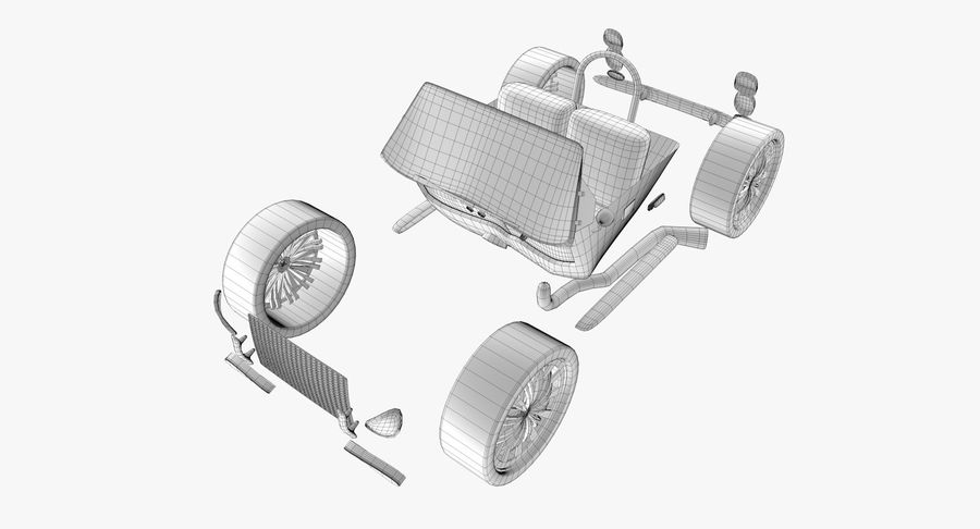 Sports Car royalty-free 3d model - Preview no. 18