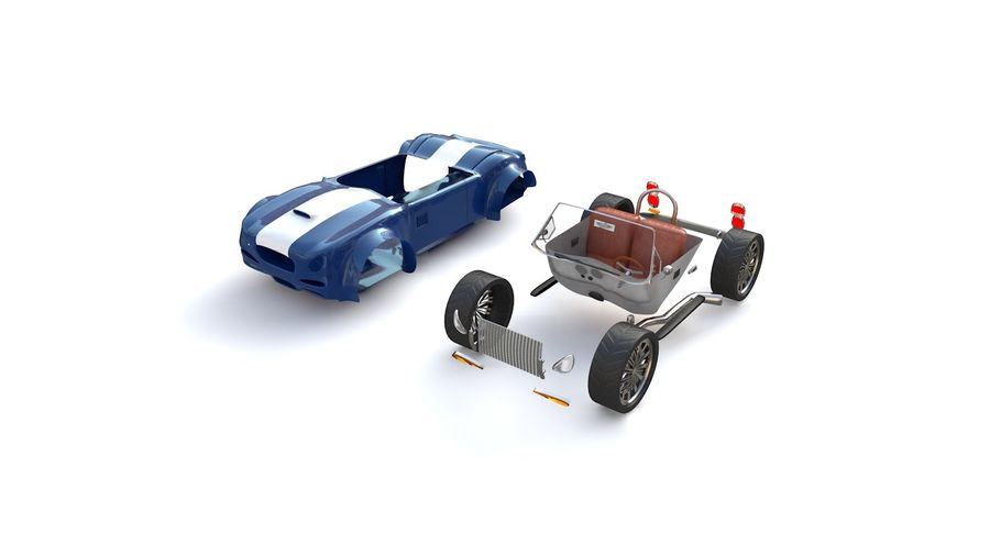 Sports Car royalty-free 3d model - Preview no. 8