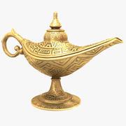 Aladdin Magic Lamp Vintage goud 3d model