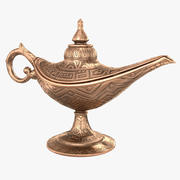 Aladdin Magic Lamp Vintage Copper 3d model