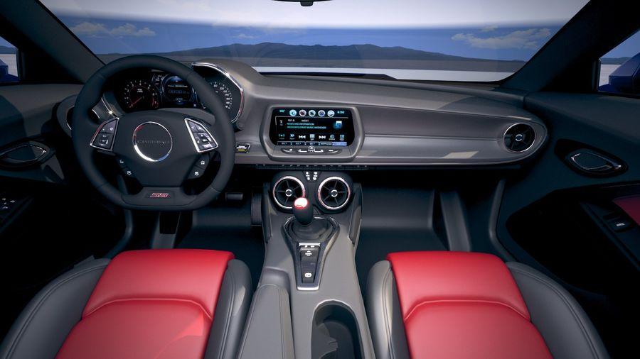 Chevrolet Camaro ZL1 2019 royalty-free 3d model - Preview no. 21