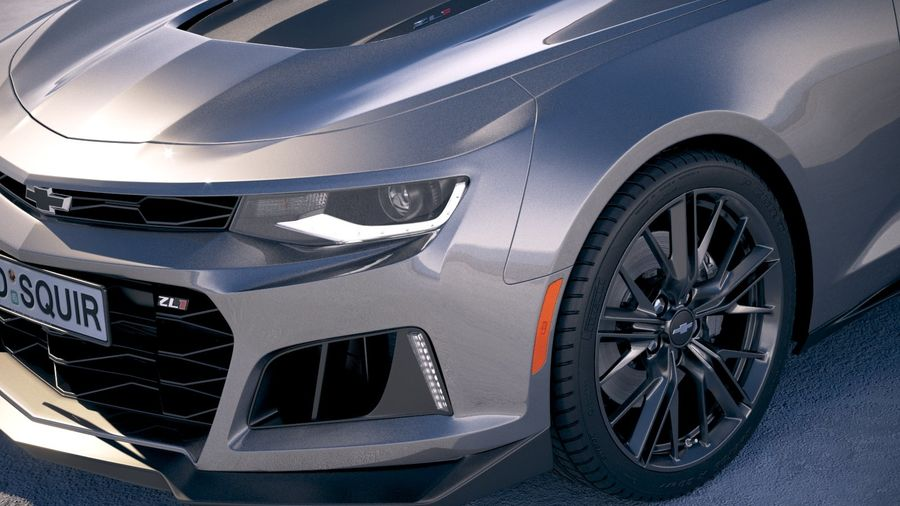 Chevrolet Camaro ZL1 2019 royalty-free 3d model - Preview no. 3