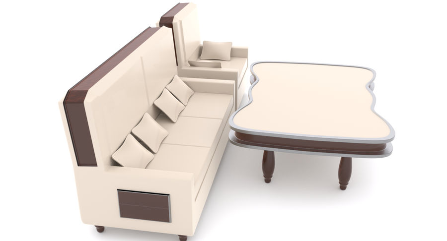 Zestaw do salonu royalty-free 3d model - Preview no. 5