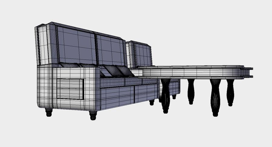 Zestaw do salonu royalty-free 3d model - Preview no. 3