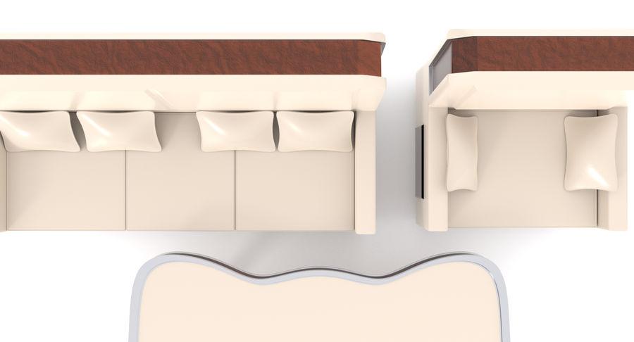 Zestaw do salonu royalty-free 3d model - Preview no. 12