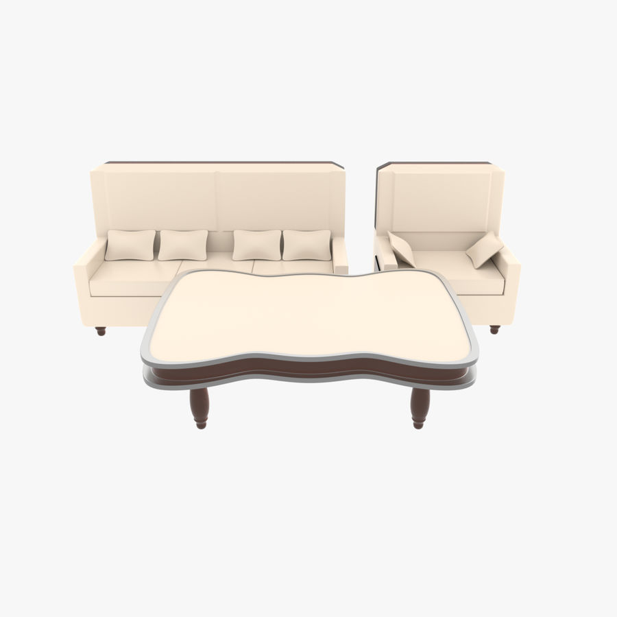 Living Room Set royalty-free 3d model - Preview no. 1