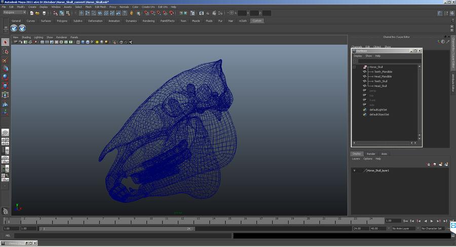 Animal Spine Vertebrae Bones 3D Model royalty-free 3d model - Preview no. 12