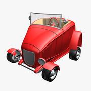 Hot Rod Cartoon Car 3d model