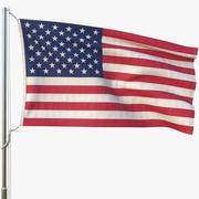Animated Flag(USA) 3d model