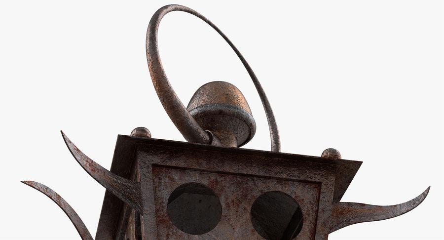 Linterna de vela oxidada royalty-free modelo 3d - Preview no. 10