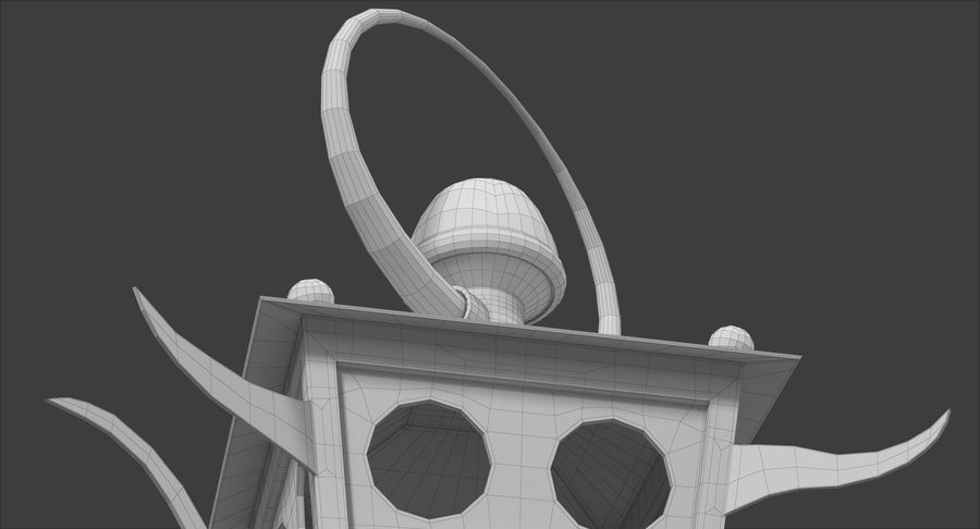 さびたキャンドルランタン royalty-free 3d model - Preview no. 33