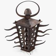 Rusty Candle Lantern 3d model