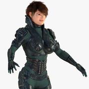 Горячие женщины Кейт 3d model