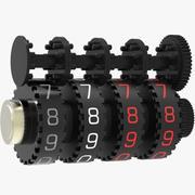 Sistema di contatori meccanici 3d model