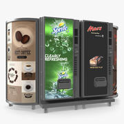 Drinks Vending Machine with Lightboxes 3d model