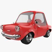 赤い漫画車 3d model