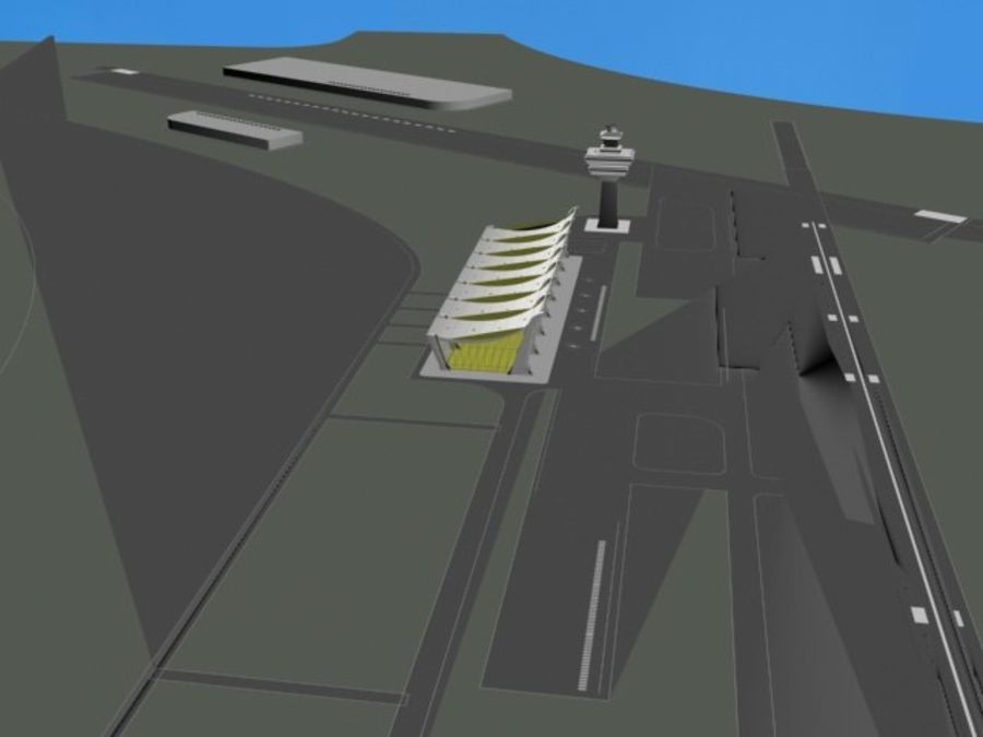 Luchthaven royalty-free 3d model - Preview no. 4