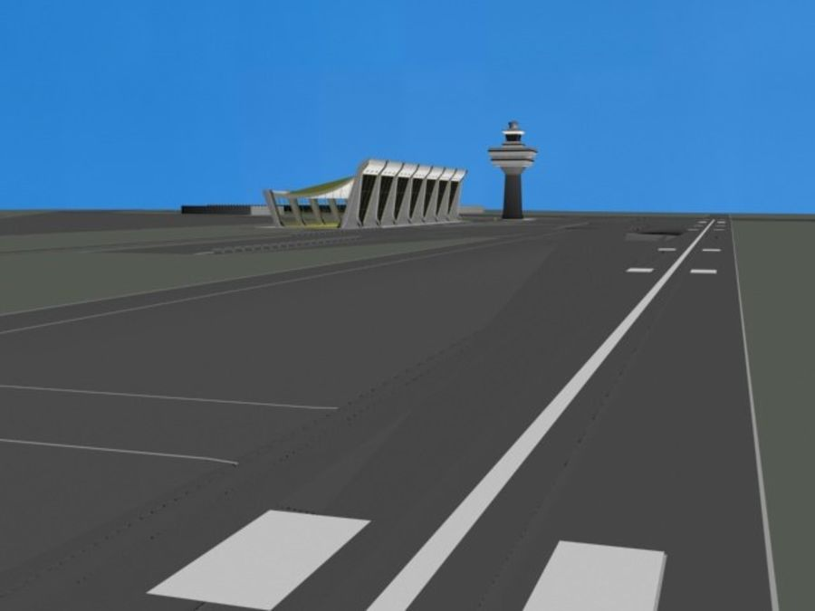 Luchthaven royalty-free 3d model - Preview no. 2