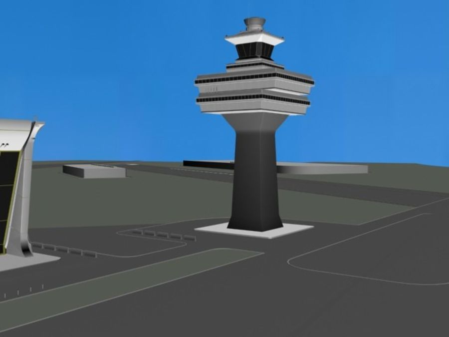 Luchthaven royalty-free 3d model - Preview no. 5