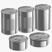 Food Cans 3d model