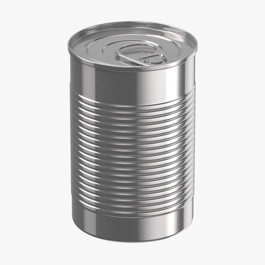 Food Cans royalty-free 3d model - Preview no. 2