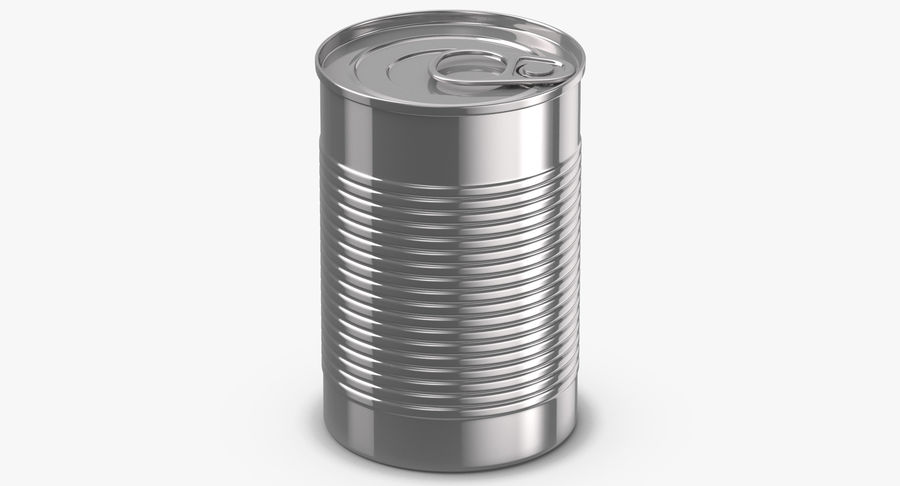 Food Cans royalty-free 3d model - Preview no. 10