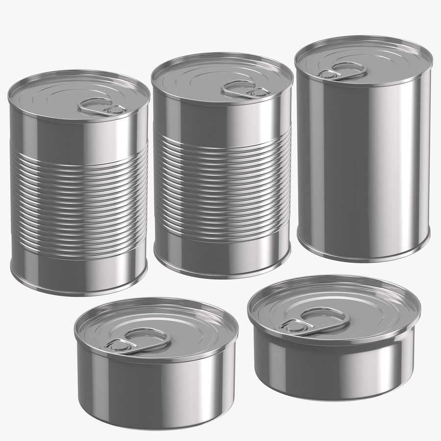 Food Cans royalty-free 3d model - Preview no. 1
