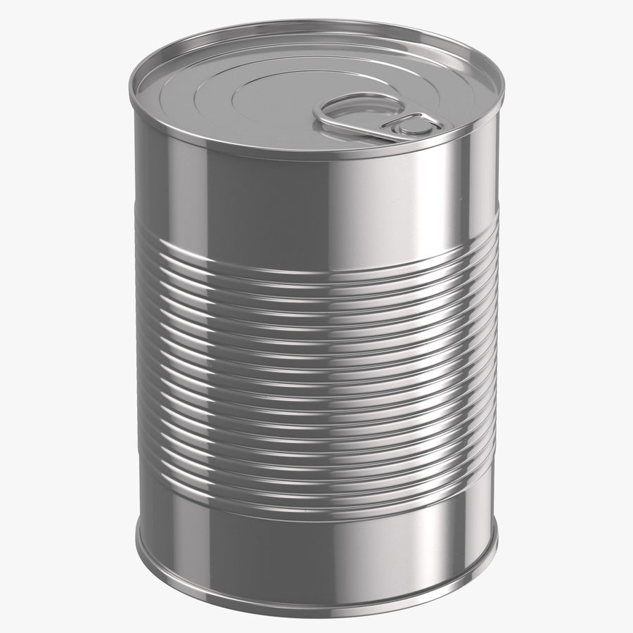 Food Cans royalty-free 3d model - Preview no. 3