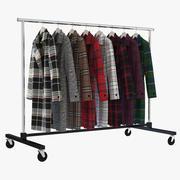 Rack för kläder 3d model