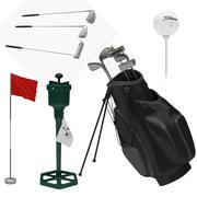 Golf ekipman koleksiyonu 2 3d model