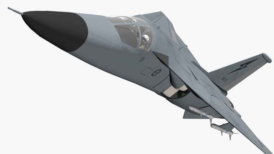 F111 Aardvark royalty-free 3d model - Preview no. 15