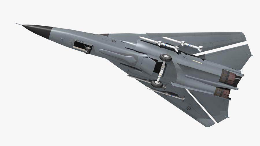 F111 Aardvark royalty-free 3d model - Preview no. 11