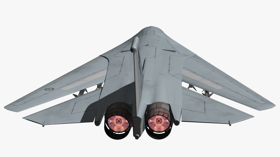 F111 Aardvark royalty-free 3d model - Preview no. 16