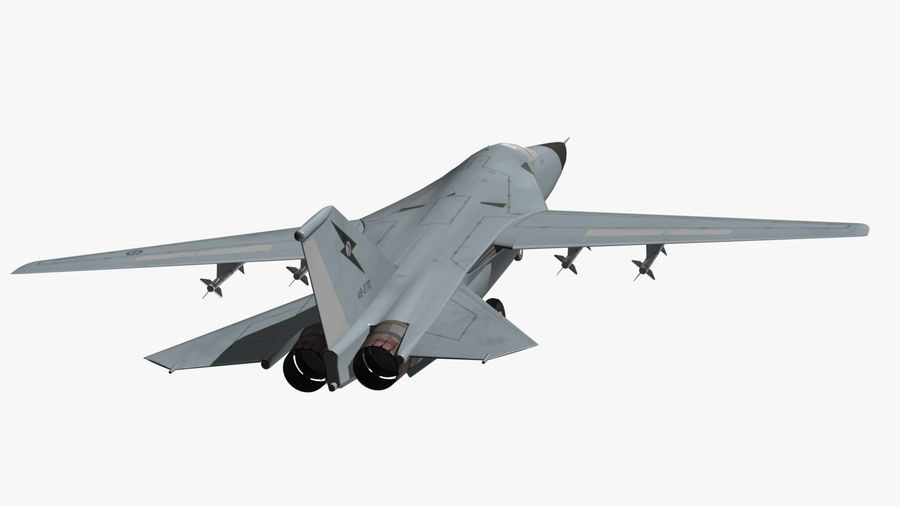 F111 Aardvark royalty-free 3d model - Preview no. 17