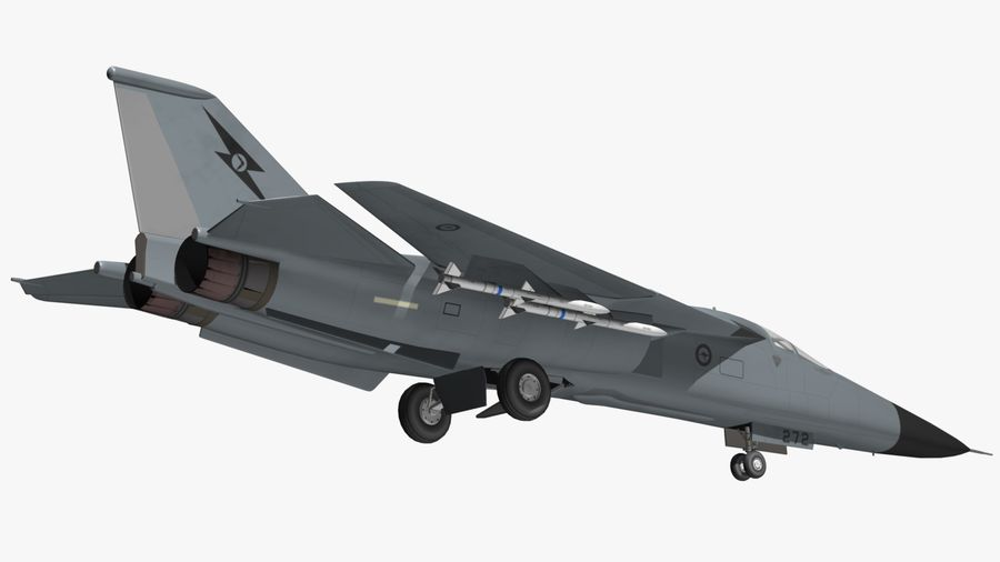 F111 Aardvark royalty-free 3d model - Preview no. 8
