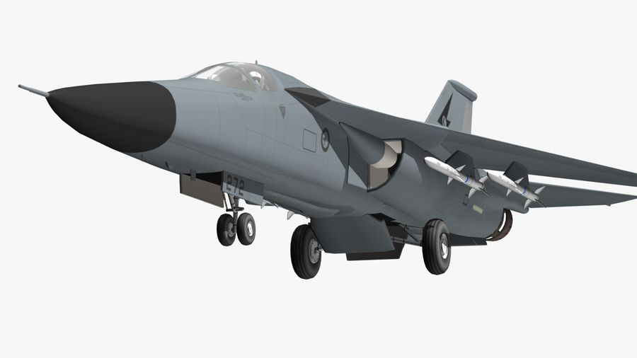 F111 Aardvark royalty-free 3d model - Preview no. 12