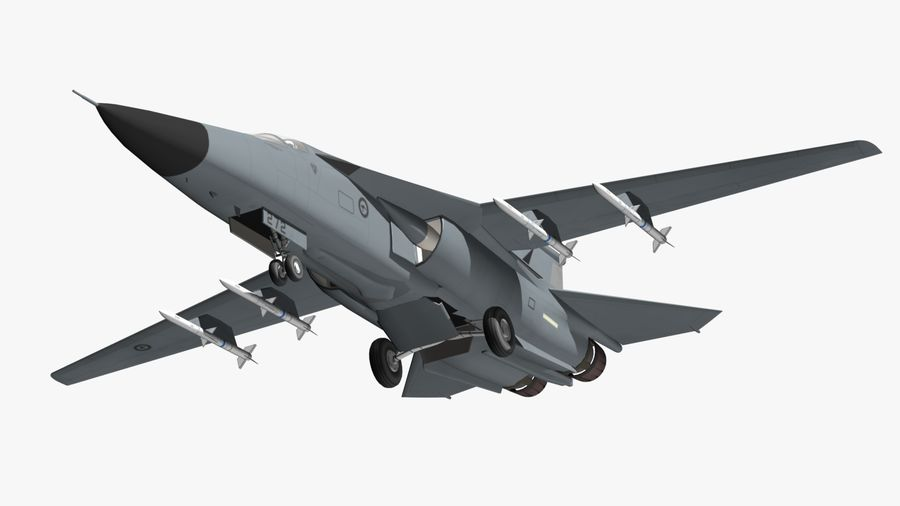 F111 Aardvark royalty-free 3d model - Preview no. 18