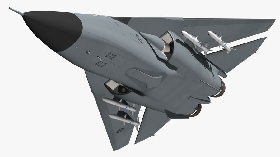 F111 Aardvark royalty-free 3d model - Preview no. 14