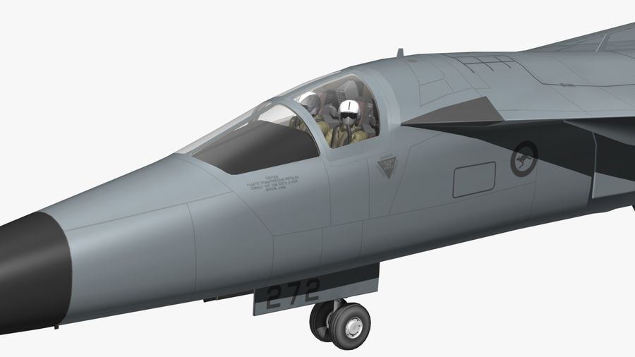 F111 Aardvark royalty-free 3d model - Preview no. 20