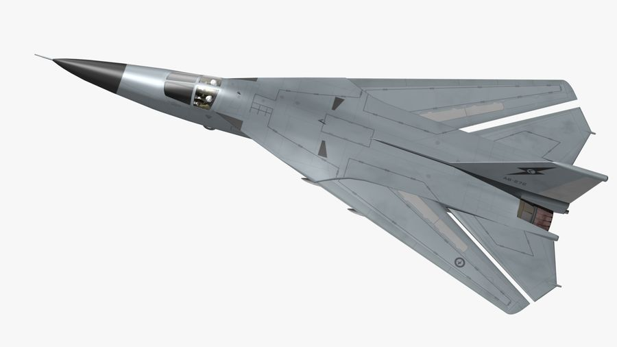 F111 Aardvark royalty-free 3d model - Preview no. 10