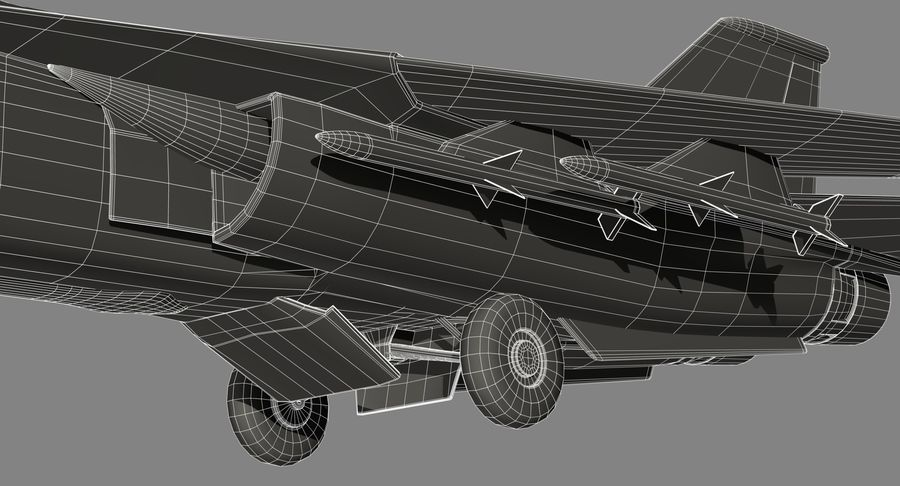 F111 Aardvark royalty-free 3d model - Preview no. 29