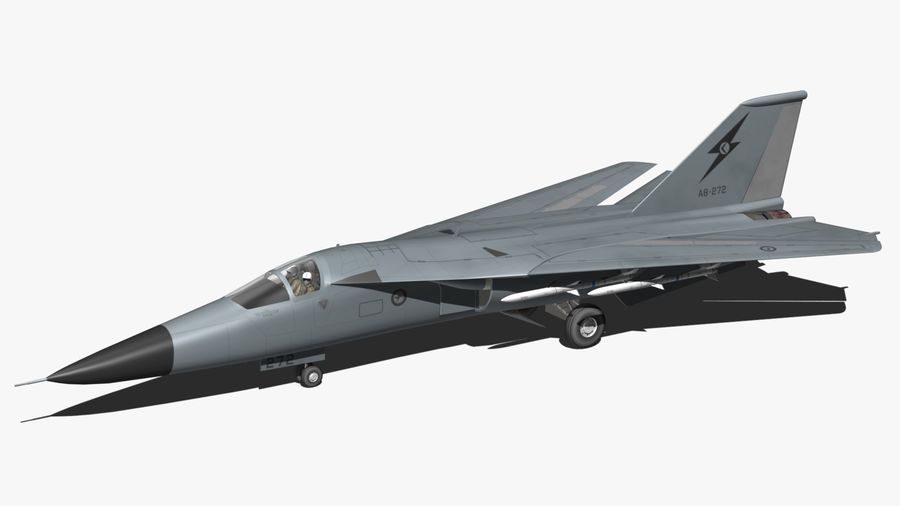 F111 Aardvark royalty-free 3d model - Preview no. 2