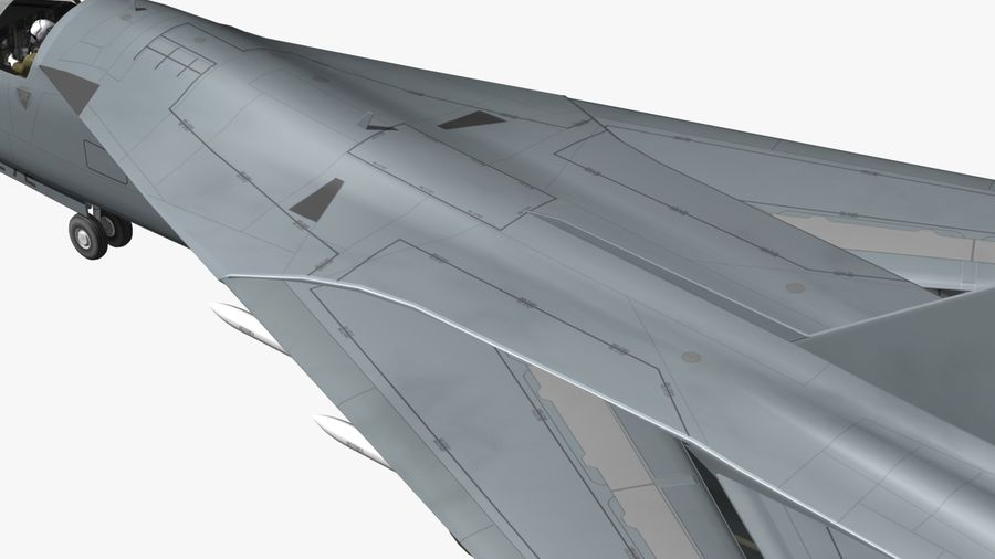 F111 Aardvark royalty-free 3d model - Preview no. 22