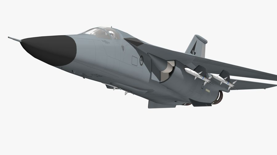 F111 Aardvark royalty-free 3d model - Preview no. 13