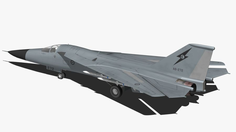 F111 Aardvark royalty-free 3d model - Preview no. 5